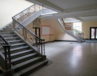 Double staircase in main entrance